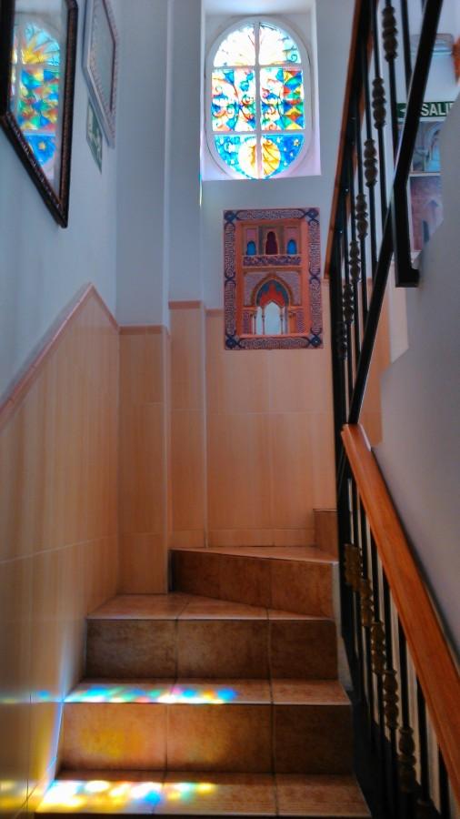 Escaleras de subida a las habitaciones